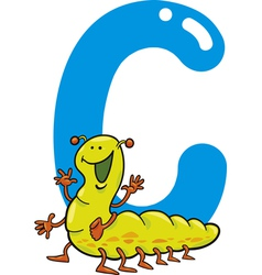 C for caterpillar vector