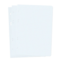 Three blank sheets of paper sheet vector