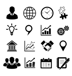 Business icons set for infographics vector
