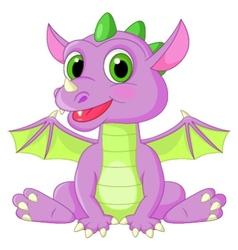 Cute baby dragon cartoon vector