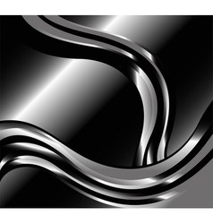 Abstract swirl metal black backgrounds vector