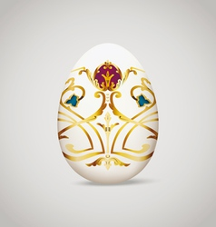 Egg with vintage decoration vector