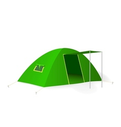 Green tourist tent vector