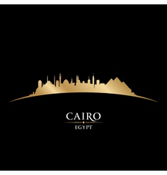 Cairo egypt city skyline silhouette vector