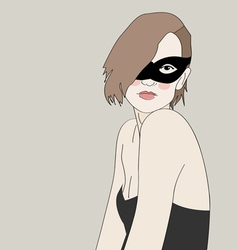 Masked beautiful girl vector