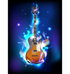Burning guitar vector