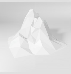 White polygonal mountain landscape vector