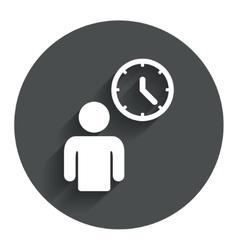 Person waiting sign icon time symbol vector