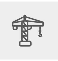 Crane machine thin line icon vector