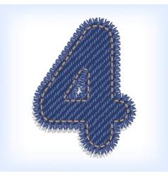Digit of jeans alphabet vector