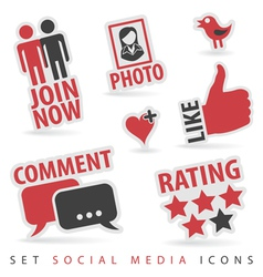 Set social media icons vector