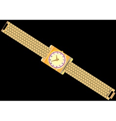 Gold watch vector