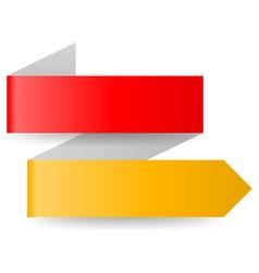 Paper arrow vector
