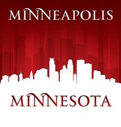 Minneapolis minnesota city skyline silhouette vector