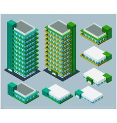 Isometric apartment vector