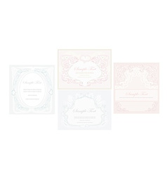 Elegant abstract vintage frame invitation set vector