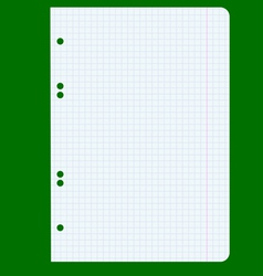 White squared blank white paper sheet vector