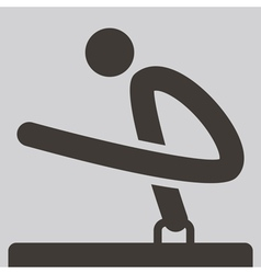 Gymnastics artistic icon vector