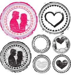 Stamp of love vector
