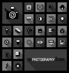 Photography icons concepts vector