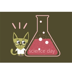 Science day day chemist vector