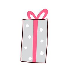 A gift box is placed vector