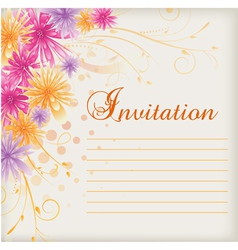 Invitation floral vector