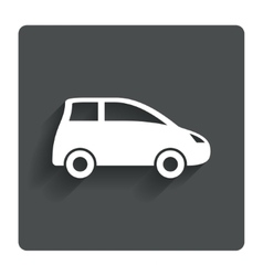 Car sign icon hatchback symbol vector