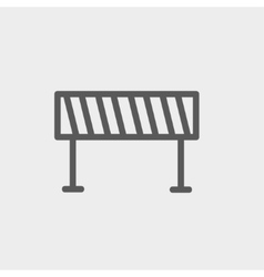 Road barrier thin line icon vector