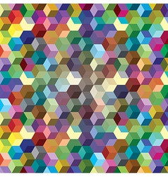Abstract background from color cubes vector