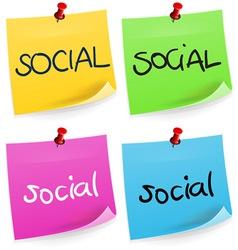 Social sticky note vector