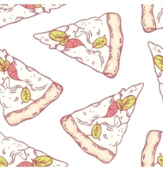 Slices of mozzarella seamless pattern vector