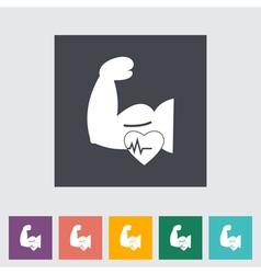 Icon of bodybuilding vector