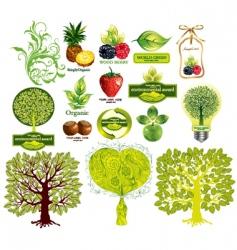 Set of ecological elements vector