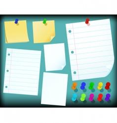 Reminder notes vector