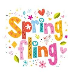 Spring fling vector