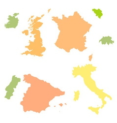 Europe countries vector