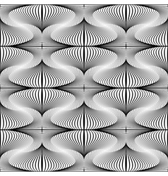 Design seamless whirl movement striped pattern vector