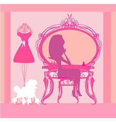 Make up at home silhouettes vector