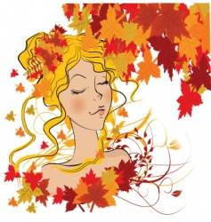 Nature babe vector