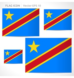 Democratic republic of the congo flag template vector