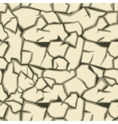 Cracked ground pattern vector