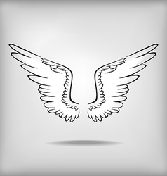 Wing grey vector