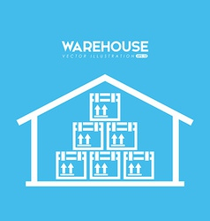 Warehouse poster vector