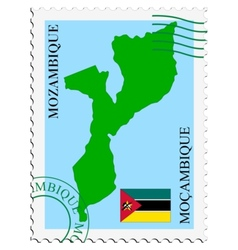 Mail to-from mozambique vector
