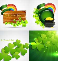 Collection of st patricks day background vector