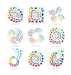 Set of abstract icon vector