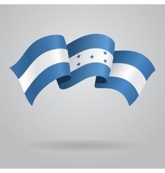 Honduras waving flag vector