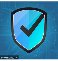Shield protection - secure internet vector