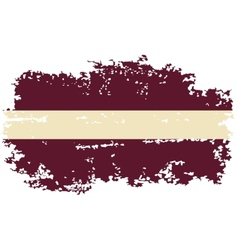 Latvian grunge flag vector
